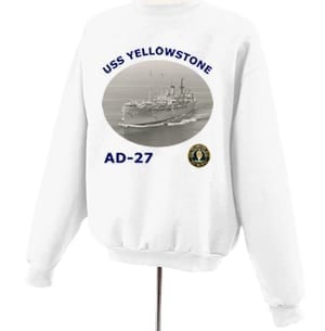 AD 27 USS Yellowstone Photo Sweatshirt