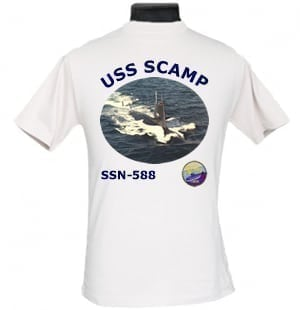 SSN 588 USS Scamp 2-Sided Photo T-Shirt