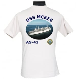 AS 41 USS McKee 2-Sided Photo T Shirt