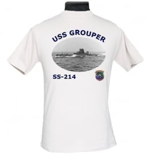 SS 214 USS Grouper 2-Sided Photo T-Shirt