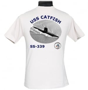 SS 339 USS Catfish 2-Sided Photo T-Shirt
