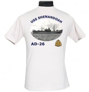 AD 26 USS Shenandoah 2-Sided Photo T-Shirt