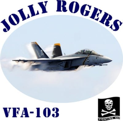 VFA 103 Jolly Rogers 2-Sided Hornet Photo T Shirt
